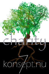 Logo konsept of Charity - kofC